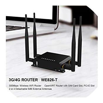 Amazon.com: Routerswifi Router - Módem inalámbrico 4G 3G con ...