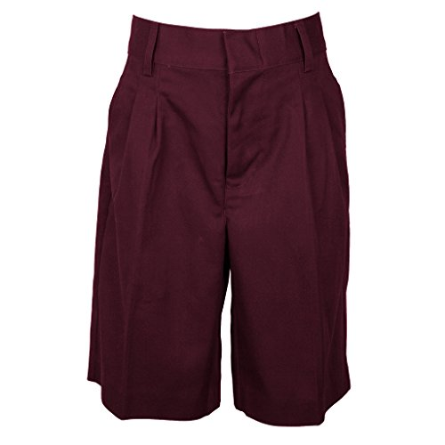 Universal Boys' Pleated Front School Uniform Short Burgundy Size - Shorts Boys Pleated School Uniform