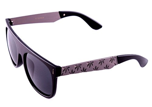 Black-Gunmetal-Engraved-Metallic-Weed-Leaf-Wayfarer-Sunglasses