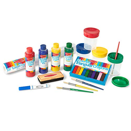 """Melissa & Doug Easel Companion Accessory Set (Arts & Crafts, Promotes Creativity, 25 Pieces, 10.5"""" H x 5"""" W x 19"""" L, Great Gift for Girls and Boys - Best for 3, 4, 5, 6, 7 and 8 Year Olds)"""