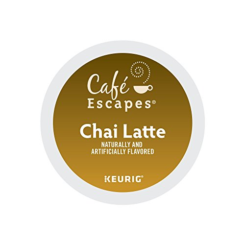 Café Escapes Chai Latte, Single Serve Coffee K-Cup Pod, Flavored Coffee, 72 by Café Escapes