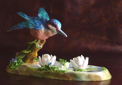 Crown Staffordshire Kingfisher figurine J T Jones