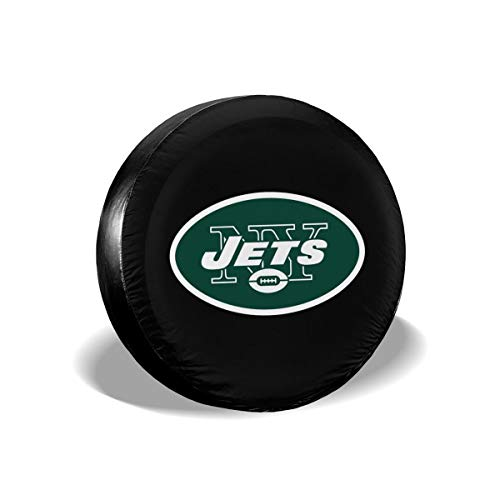 (MamaTina Design Waterproof Tire Cover New York Jets American Football Team Unisex Spare Tire Cover for Jeep Trailer RV SUV and Many)
