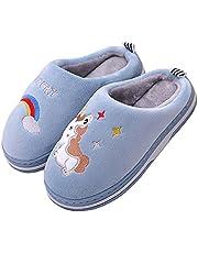 Kinderpantoffels voor de winter, warm, voor meisjes en jongens, eenhoorn, konijn