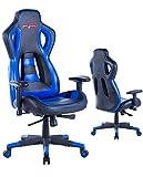 Ergonomic Gaming Chair High Back Game Chair (Blue/Black,6)