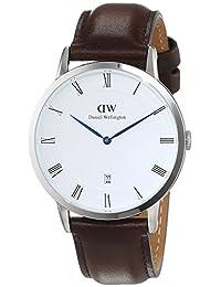 Daniel Wellington Men's Dapper Bristol 1123DW Silver Leather Quartz Watch