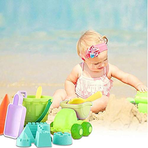 Asatr Kids Beach Toy Set Rake Shovel Bucket Toddlers Children Sand Playing Toys Set Beach Toys from Asatr