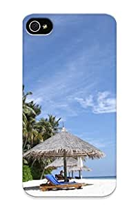 Nice Blue Sky Iphone 4/4s Case Bumper Tpu Skin Cove Rwith Paradise Island Design For Thanksgiving Day Gift