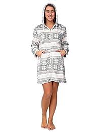 Wanted Women's Snowflake Super Soft Plush Sherpa Zip Up Lounge Robe