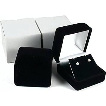 Amazon.com: Earring Gift Box Black Velvet Flocked Jewelry