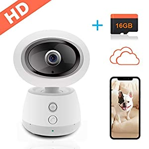 IP Camera Seucrity Cameras-2MP 1080P Cloud Storage with Free 16GB TF Card Baby Monitor-Elder Pet Dog Surveillance Cameras Wireless-for Home Security Camera Systems …
