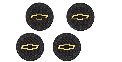 (Chevy Bowtie Heavy Duty Rubber Coaster 4 pc Set)