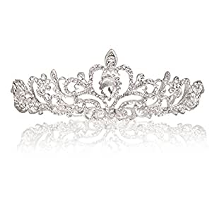 Makone Crystal Tiara Crown Headband for Wedding Prom Bridal Birthday (Style 4)
