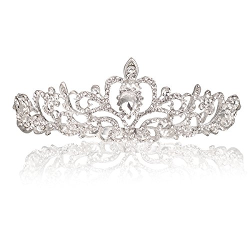 (Makone Crystal Crowns and Tiaras with Tomb Headband for Girl or Women Birthday Party Wedding Prom)