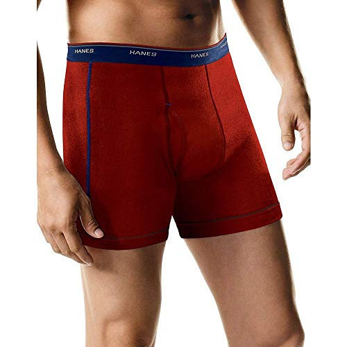 Brief Boxer Underwear Knit (Hanes Sport Boxer Brief with Comfort Waistband 5-Pack)