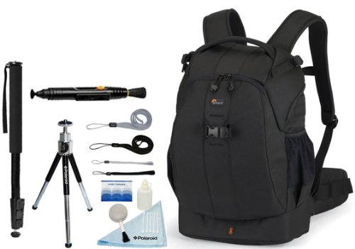 LOWEPRO Flipside 400 Backpack (Black) + Accessory Kit for Canon EOS Rebel T3/T3i/T2i/T1i/EOS 1D MARK III/1D MARK IV/1DS MARK II/5D/7D/20D/30D/40D/50D/60D/XS/Xsi/Xti D-SLR Cameras by LOWEPRO