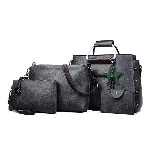 Wild Shoulder Bag Women Fashion Handbag Gray