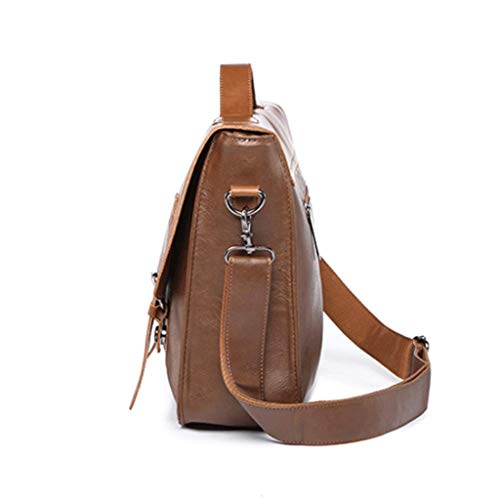 Pu S color A Leather Messenger Men's College Rxf Bag Vintage Size A Business Leisure zw1Exq7xU