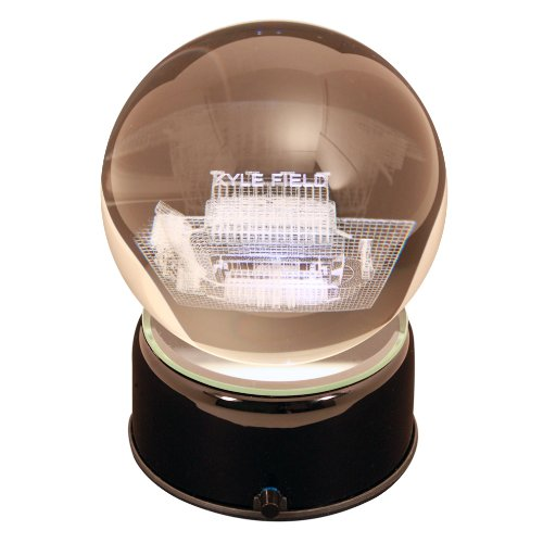 Sports Collector's Guild NCAA Texas A&M Aggies Kyle Field Etched Lit Musical Turning Crystal (Texas Musical Globe)