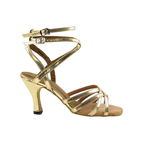 """50 Shades Of Gold Tanzschuhe Sammlung, Komfort Abendkleid Hochzeit Pumps: Ballroom Schuhe für Latin, Tango, Salsa, Swing, Kunst von Party Party (2,5 """"3"""" & 3,5 """"Heels) 5009- Gold Leder"""