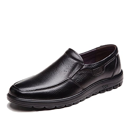 Mens Classic Casual Loafers - Driving Moccasins Soft Slip On Shoes 6075 Black 5ME0zmzm8