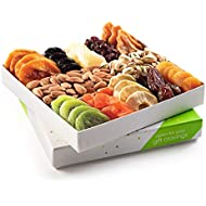 Father's Day Nuts and Dried Fruit Gift Basket, Gourmet Mix of Assorted Fresh Nuts & Dried Fruit Tray for Christmas Holiday, Mothers & Fathers Day, Birthday, Sympathy, Corporate Gifts By Nut Cravings
