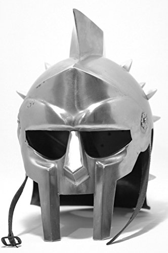Gladiator Roman Maximus Style Helmet Armor with (Gladiator Costume Maximus)