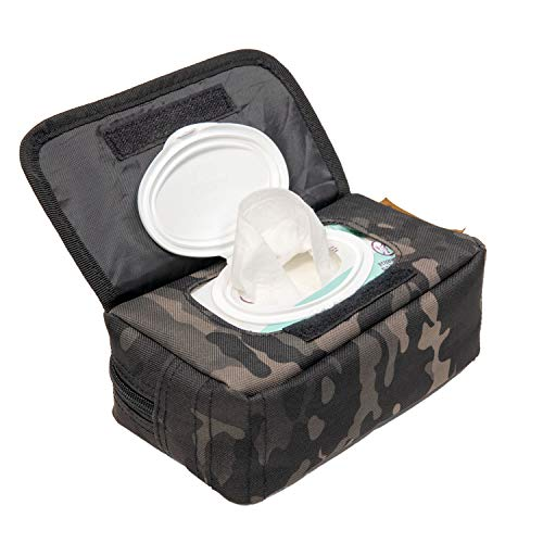 Tactical Baby Gear MOLLE Baby Wipe Pouch 2.0 (Black Camo) from Tactical Baby Gear
