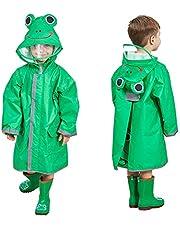 SSAWcasa Kids Rain Coat,3D Cartoon Children Toddler Rainwear Jacket Poncho for Boy Girl
