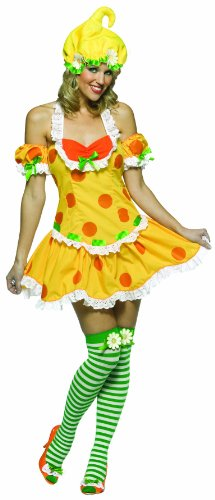 Lemon Meringue Costumes (Adult Lemon Meringue Costume, One Size Fits Most Ladies Sizes 4-12)