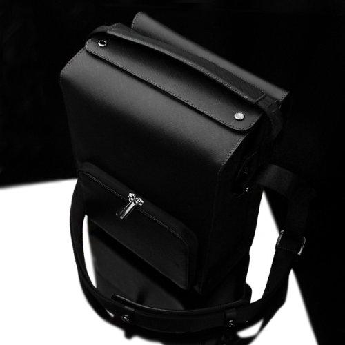 Gariz Genuine Leather BL-ZBLBK Black Label Camera Zoom Case Bag for iPad Mirrorless DSLR Camera Large Size, Black Label by Gariz