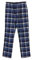 Gioberti Mens Flannel Pajama Pants, Elastic Waist