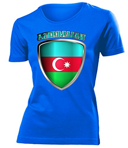 coppa del Mondo - Campionati Europei ASERBAIJAN FAN mujer camiseta Tamaño S to XXL varios colores Azul