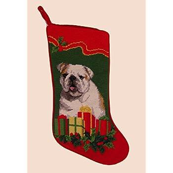Amazon.com: French Bulldog Dog Needlepoint Christmas Stocking ...