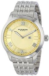 Akribos XXIV Men's AK594SS Swiss Stainless Steel Bracelet Date Watch
