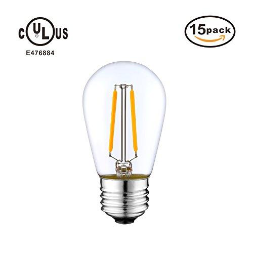 Cheap  LED Filament Bulbs, Non Dimmable, 2W 2700K Warm White 180LM, E26 Base..