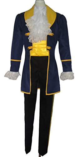 makura Men's cos1288 Beauty and the Beast Prince Adam (XXXL)