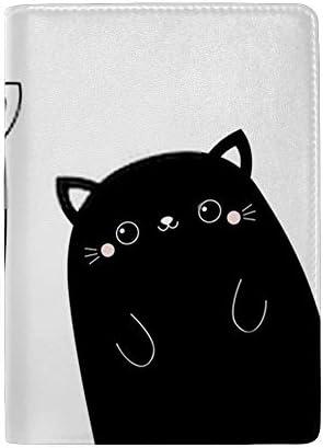 パスポートカバー ホルダー スキミング防止 多機能収納ポケット パスポートケース トラベルウォレット PUレザー エアチケット カードケース 収納ポーチ おしゃれ 可愛い 猫柄 高級レザー 出張 便利グッズ 安全な海外旅行用