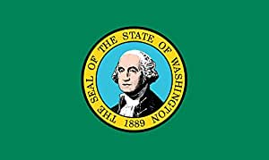 Washington 4'x6' poliéster bandera