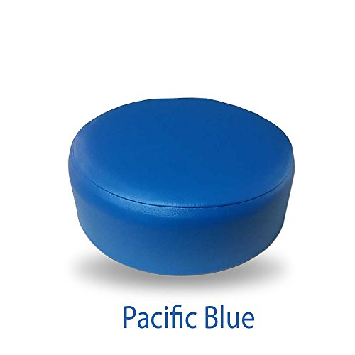 Bar Stool Cover Replacement Staple On Seat Top Made with Heavy Duty Commercial Grade Vinyl (16 inch Diameter, Pacific Blue) ()