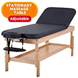 Massage Table Stationary Massage Bed Spa Bed 75'' Long 28' Wide Heavy Duty Stationary Massage Table Bed Physical Therapy Bed with Memory Foam Layer Salon Bed