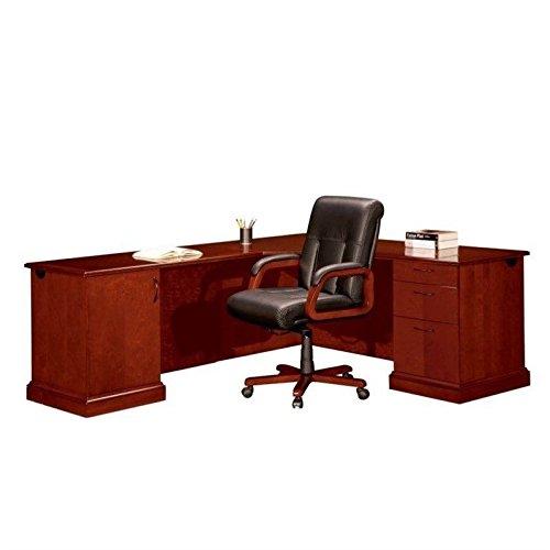 [DMI Office Furniture Belmont Right CPU Corner Unit, 7132-76, 7132 76, 713276 - Brown Cherry] (76 Piece Hardwood Unit)
