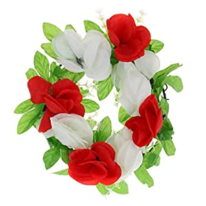 MagiDeal Artificial Silk Rose Funeral Tombstone Cemetery Grave Flower Wreath Decor 28