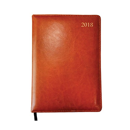 2018 Diary, Hamee Leather Printed Daily Diary 2018 Calendar Year Daily Hardbound Planner 2 Page Daily Dated Calendar