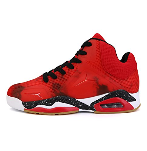 No.66 Town Men's Performance Air Shock Absorption Running Shoes Sneaker Basketball Shoes Size 9.5 Red