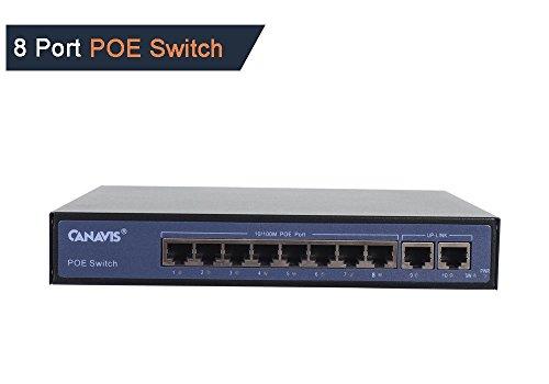 Casacop PoE Switch 802.3af 120W (8 PoE Port + 2 Uplink Port) by Casacop