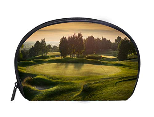 Custom design Portable Toiletry Cosmetic Bag backlit golf course with no golfers Ladies Travel Convenience Small Wash Bag Storage Bag