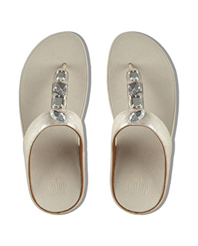 Mujer Fitflop leather Roka chestnut Sandals 320 thong Para Toe Marrón Zapatillas 1PR1q7dw