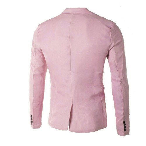 Slim Business Charm Unie Rose Homme Un Fit De Manteau Bouton Deelin Casual Mode Veste Couleur Costume Blazer qTpI4Ww