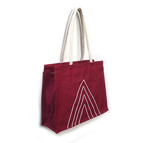 Borsa In Juta Da Sera Ecologica College Friendly Con Manico In Corda Di Cotone